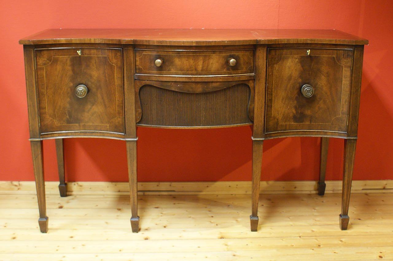 edwardian serpentine sideboard anrichte mahagoni super. Black Bedroom Furniture Sets. Home Design Ideas